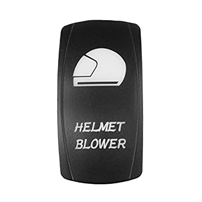 STVMotorsports Laser Backlit Rocker Switch Helmet Blower 20A 12V On/Off LED Light (Green): Automotive