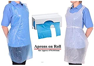 Zoomlie Disposable Aprons for Adults, Doing Housework Apron, Hotpot Protective Apron, Kitchen Apron Disposable Aprons on Roll White Aprons Blue Apron High Density Polythene(White) 200 Aprons