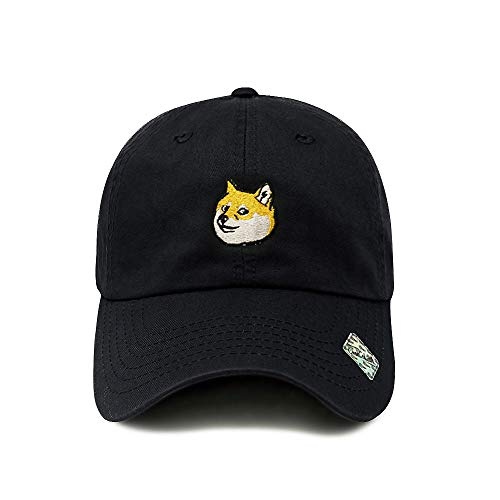 (ChoKoLids Doge Dad Hat Cotton Baseball Cap Polo Style Low Profile 6 Colors (Black))