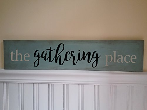 (The Gathering Place Sign Handpainted 30
