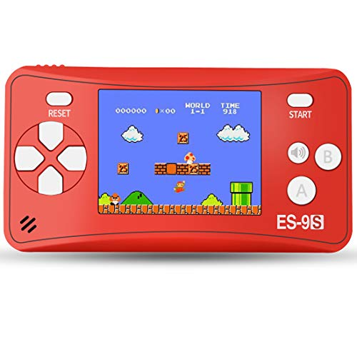 ZHISHAN Retro Handheld Game Console Gaming Player System Birthday Gift for Kids Built in 168 Classic Nostalgia Games with 2.5 LCD Screen Arcade (Red)