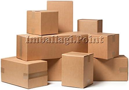 5 pezzi SCATOLA DI CARTONE imballaggio spedizioni 35x23x25cm scatolone avana