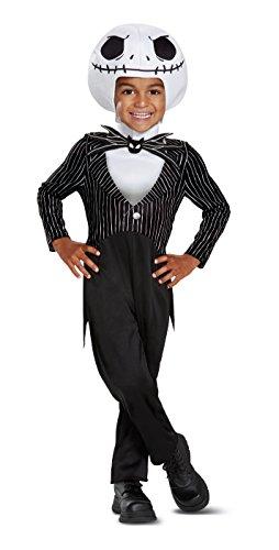 Disguise Jack Skellington Classic Toddler Child Costume, Black, Medium/(3T-4T)