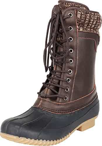 WeenFashion Womens Frosted Round-Toe Solid Low-Top Low-Heels Boots AMGXX115632