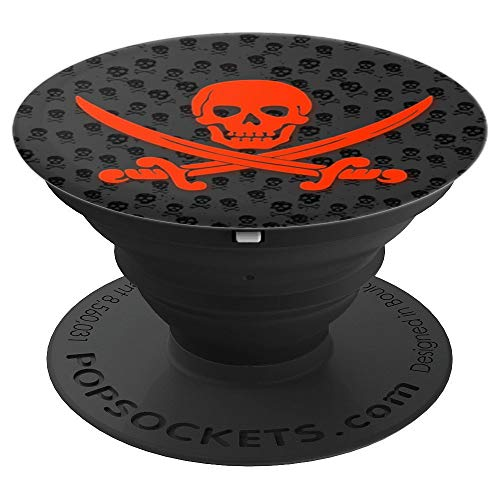 Skull & Crossbones Pirate - PopSockets Grip and Stand for Phones and Tablets -
