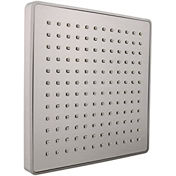 brushed nickel square rain shower head. Vida Alegr a Spashower RAIN 8 Inch Square Soft Rain 2 5 GPM Shower Head  Brushed Large 12 Nickel Fixed
