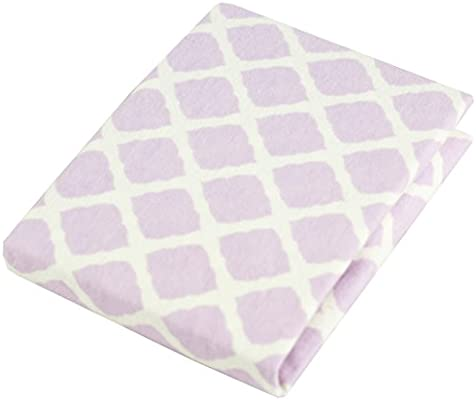 Soft 100/% breathable cotton flannel Lilac Lattice Ben /& Noa Pack N Play Playard Sheet Made in Canada