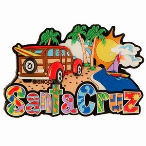 Santa Cruz California Collage Laser Cut Out Magnet 58156]()