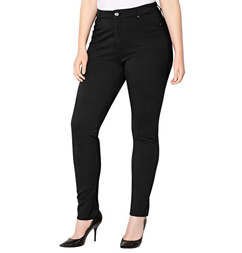 Avenue Women's Ponte Knit Jean (Black), 16 Black