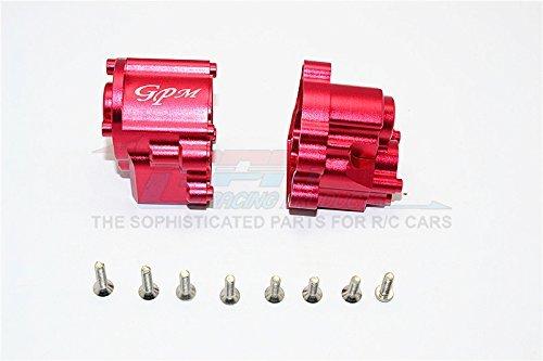 Axial SCX10 II Aggiornamento Parti (AX90046) Aluminium Transmission Case - 2Pcs Set Red