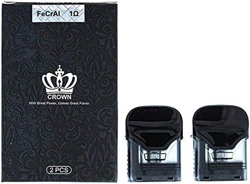 正規品 UWELL Crown 純正 POD カードリッジ 2pc Amazon限定 エンプティボトル付き (1.0ohm)