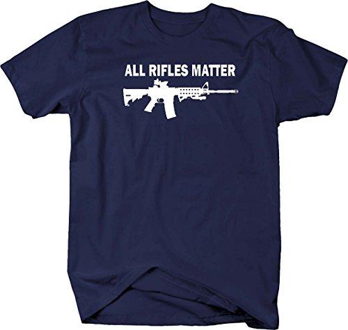 All Rifles Matter Black AR-15 Tactical Gun Police NRA BLM Mens T Shirt - Medium