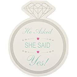 "Just Artifacts 12pcs Party & Wedding Drink Coasters""She Said Yes Ring"" - Wine and Beer Wedding Coasters - Click for more styles!"