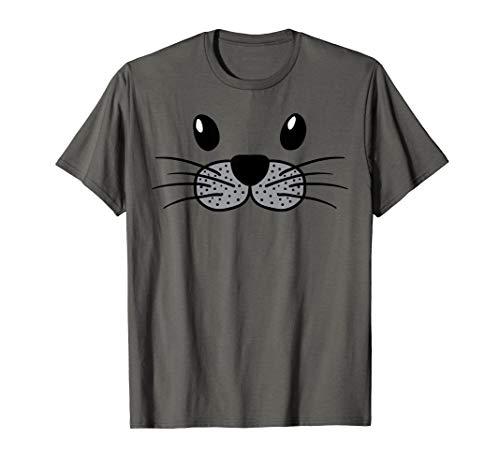Seal Animal Face Cute Lazy Easy DIY Halloween Costume T-Shirt