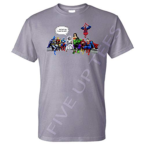 3f521b1d65c Five Up Tees and That's How I Saved The World Jesus Superheroes with W Woman  -