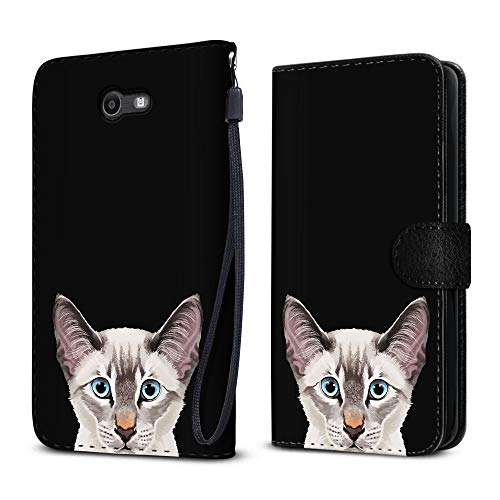 - FINCIBO Case Compatible with Samsung Galaxy J7 2017/ J7V J727 Sky Pro, Protective Canvas Pouch Case Card Holder TPU Cover for Galaxy J7 2017 Sky Pro (NOT FIT J7 2016) - Lynx Point Lilac Siamese Cat