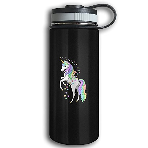 Colorful Unicorn Sports Water Bottle - Stainless Steel Double-Wall Vacuum Insulation - Wide Mouth, Leak Proof, Keep Hot Or Cold More Than 12 Hours