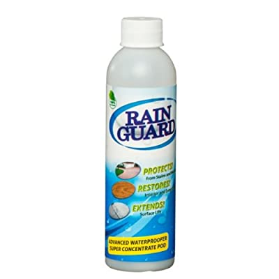 Rainguard Advanced Waterproofer & Sealer ECO POD Concentrate (makes 1 gal) is a Clear Masonry, Concrete, Brick, Wood, Natural Stone Water Sealer Protects Driveways, Porches, Decks, Patios, Walkways, Pavers, Fences 10 Yr