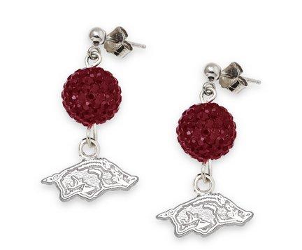 Arkansas Razorbacks Ovation Crystal Earrings