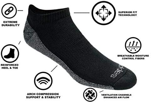 Dickies mens Dri-tech Moisture Control 6 Pairs Low Cut Socks