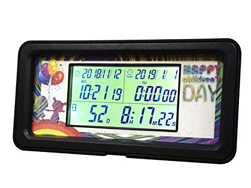 Day Countdown Clock Calendar Timer Count Up with Calendar Digital Backlight 1,999 Days for Retirement Wedding New Baby Birth Event Vacation Project Christmas New Year]()