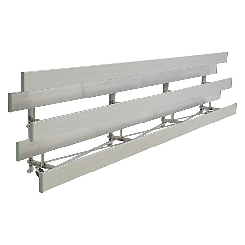 National Recreation Systems - TR-0321STD - 21 ft. Bleacher with 42 Seats in 3 Rows, Aluminum