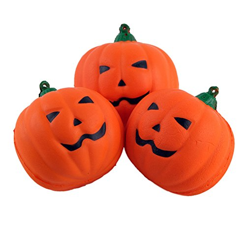 Lanlan Cute Halloween Pumpkin Squishy Toy Soft PU Slow Rising Squeeze Toy Pendant Relieve Anxiety Gift for Kids Adult Pumpkin (Halloween Physical Education Games Preschool)