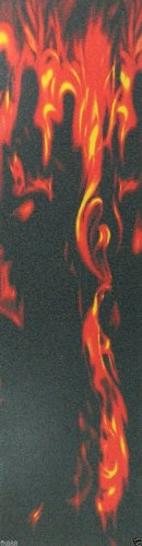"""Blank Graphic Skateboard Grip Tape 9"""" x 33"""" Multiple Graphics (Fire)"""
