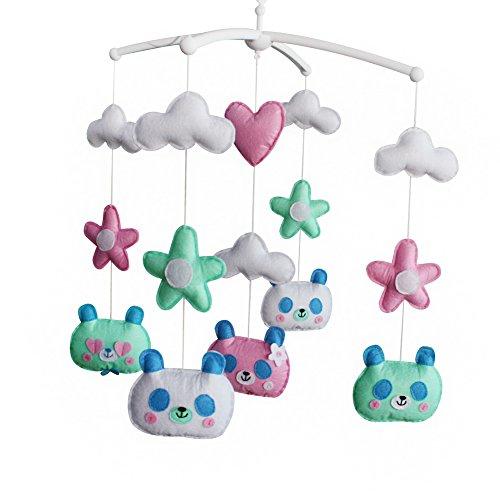 - Unisex Baby Crib Bell, Handmade Musical Mobile [Cute Panda] Colorful Room Decor