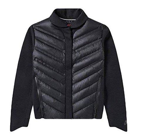 NIKE Sportswear Tech Fleece Aeroloft Women's Black Down Bomber Jacket (Medium)