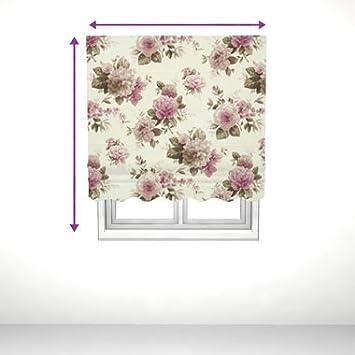 saustark design roman blind with valance in edinburgh floral print pink bewertung