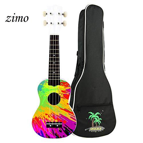 zimo 21 Inch Ukulele Kit Soprano Ukulele 4 String Hawaii Concert Ukulele with Carrying Gig Bag from zimo