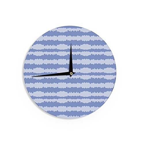 Kess InHouse Mydeas Nautical Breeze - Ocean Ripple Blue Aqua Wall Clock, 12-Inch