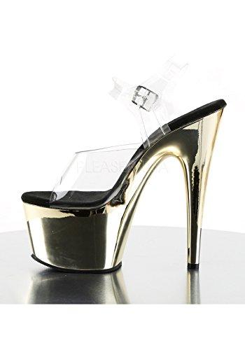 Sandali Donna Pleaser Chrome Clr gold aRw8wOx