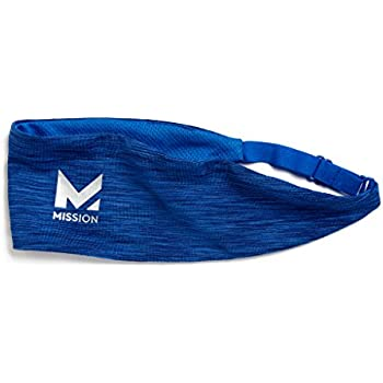 Mission VaporActive Cooling Lockdown Headband, RoyalSpace Dye, One Size