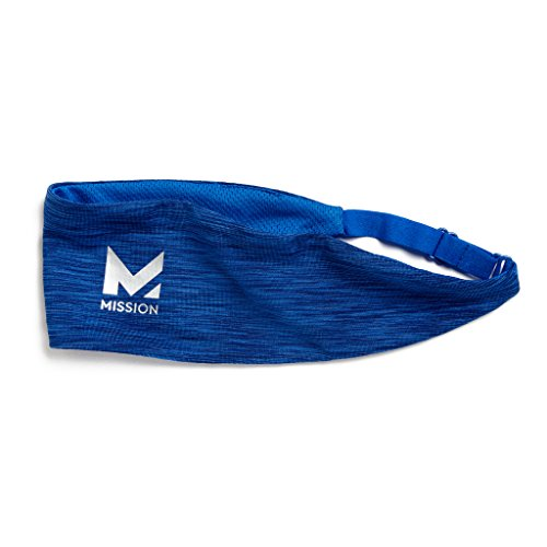Mission VaporActive Cooling Lockdown Headband, Royal  Space Dye, One Size (Importance Of A Cool Down In Sport)