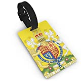 KODW12 Royal Coat of Arms of The United Kingdom Luggage Tag Travel Bag Labels Suitcase Bag Tag Name Address Cards