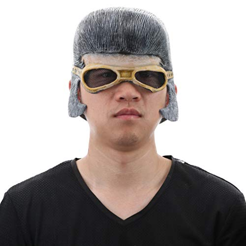 - Elvis Head Mask for Men Halloween Costume Adult Latex Headpiece