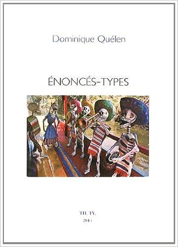 Lire en ligne Enoncés-types pdf epub