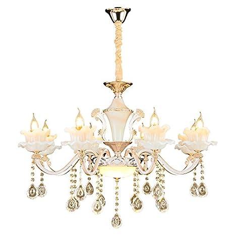 XLH araña lámpara de techo cristal Casquillo E14 luxuriös ...