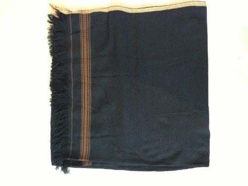 (Cool Kaftans Afghan Mens Large Brown Black Gray Blanket Wool Shawl Long Scarf Wrap Gift Patu Winter Head -- Black)