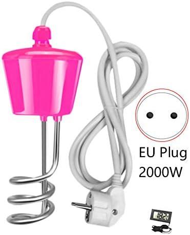 ADDFOO 2000W Sospensione Immersione Elettrica Riscaldatore di Acqua Caldaia per nel Flatable Tub Pool-con Termometro EU Plug