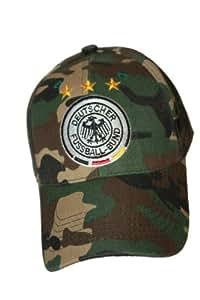 Germany Deutschland Camouflage DEUTSCHER FUSSBALL - BUND Logo FIFA Soccer World Cup Embossed Hat Cap .. For ADULTS .. New