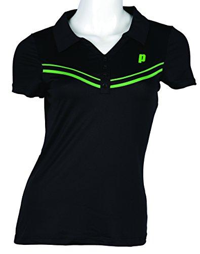 Prince W Polo de Tenis, Mujer, Negro/Verde, XS USA: Amazon.es ...