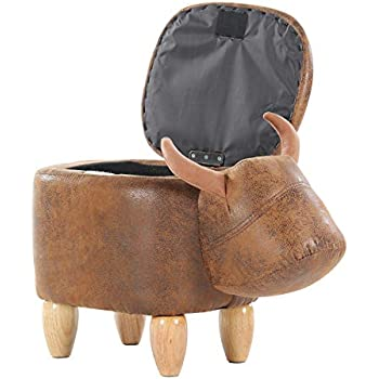 Amazon Com Olizee Decorative Buffalo Ottoman Footstool
