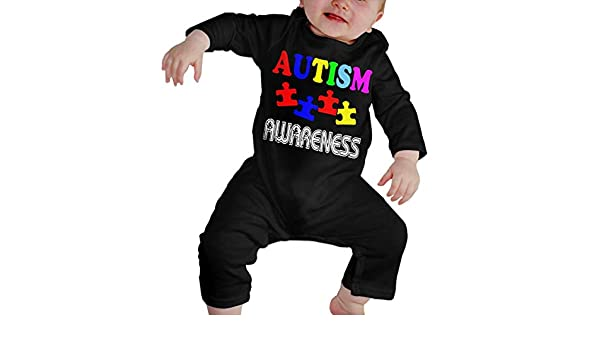 Mri-le1 Baby Girls Jumpsuit Autism Awareness Baby Clothes