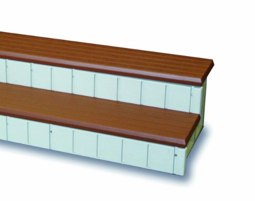 QCA Spas LASS36R Two Toned Spa Step, 36-Inch, Red Wood by QCA Spas
