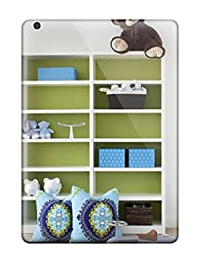 Ipad Air Case Cover Skin : Premium High Quality Green And White Child8217s Bookcase With Bright Blue Accents Case