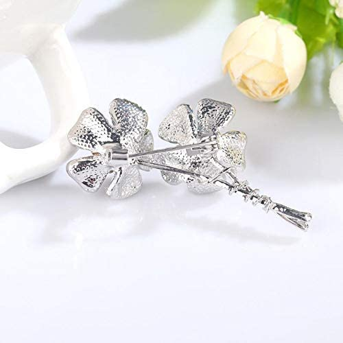 YRUI Vintage Brooch Personality Delicate Floral Brooch Alloy Creative Brooch Wedding Clothing Accessories for Women