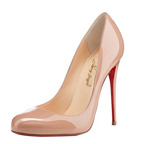 NANCY Léopard véritable Aiguille Femmes Rose ou ou Stiletto fermé Cuir JAYJII Talon Bout Rond Noir Rose 0rxzw0P